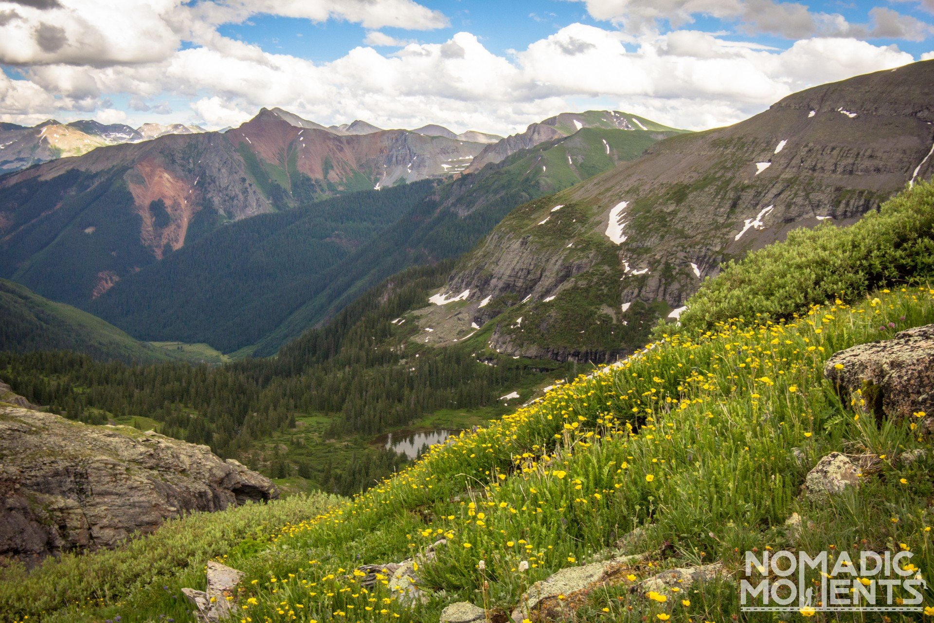 The view of the San Juan Mountains from the Upper Ice Lake Basin