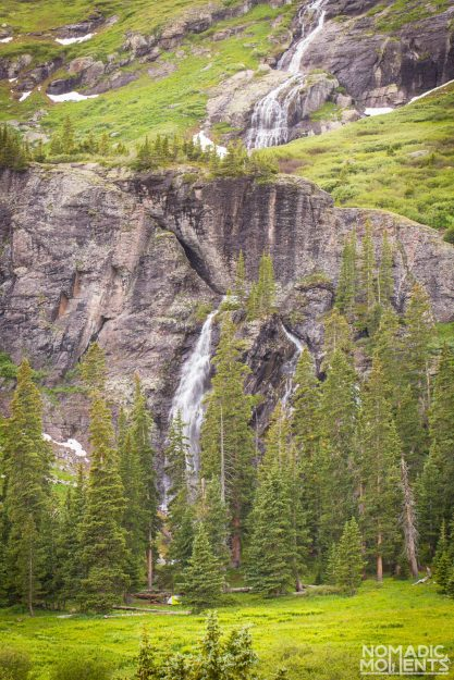 The Waterfall running off of Fueller Lake