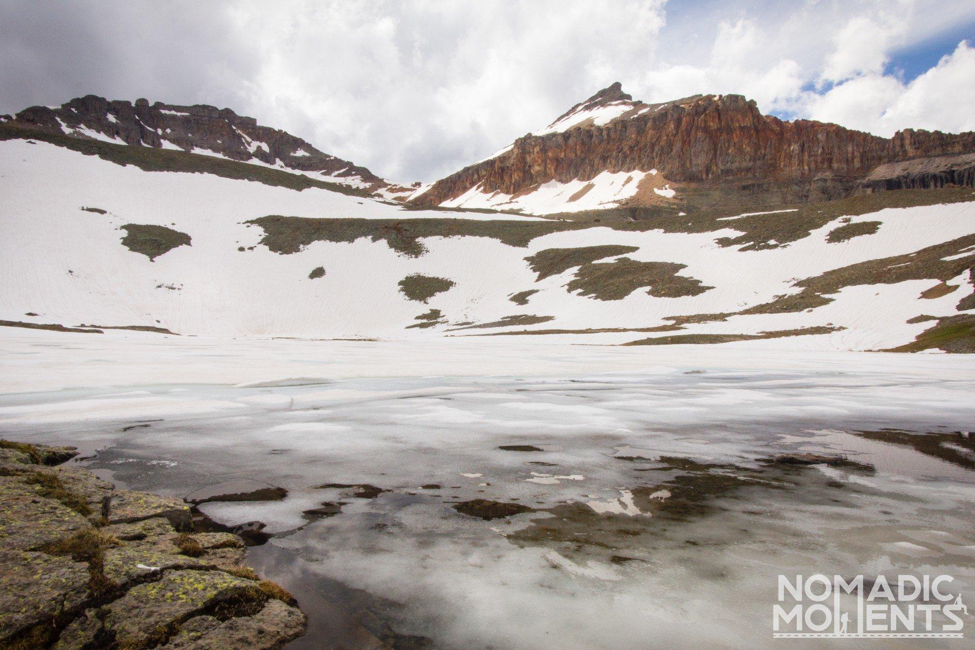 A frozen Fueller Lake