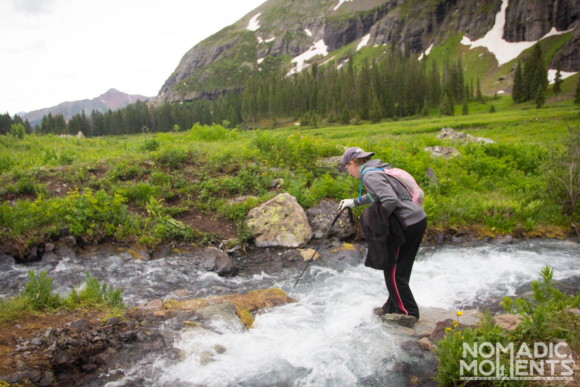The Creek that runs through the Lower Ice Lake Basin