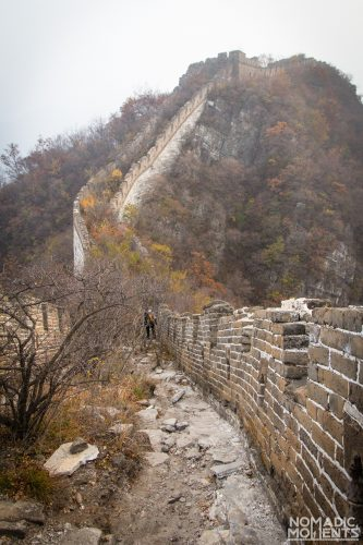 The path on top of the Unrestored Section of The Great Wall