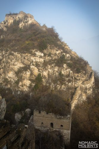 A narrow area of the Jiankou section of the Great Wall