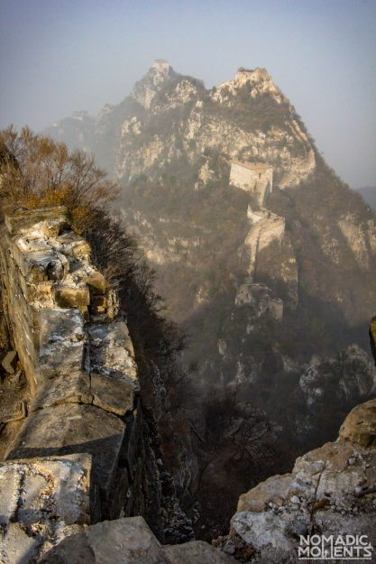 Overlooking the Jiankou section of the Great Wall above the ladder section