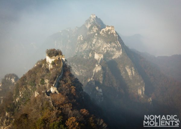 The view of the dangerous but beautiful Jiankou section of the Great Wall.