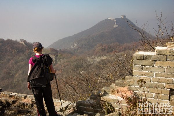 A hiker on the trail from Jiankou to Mutianyu