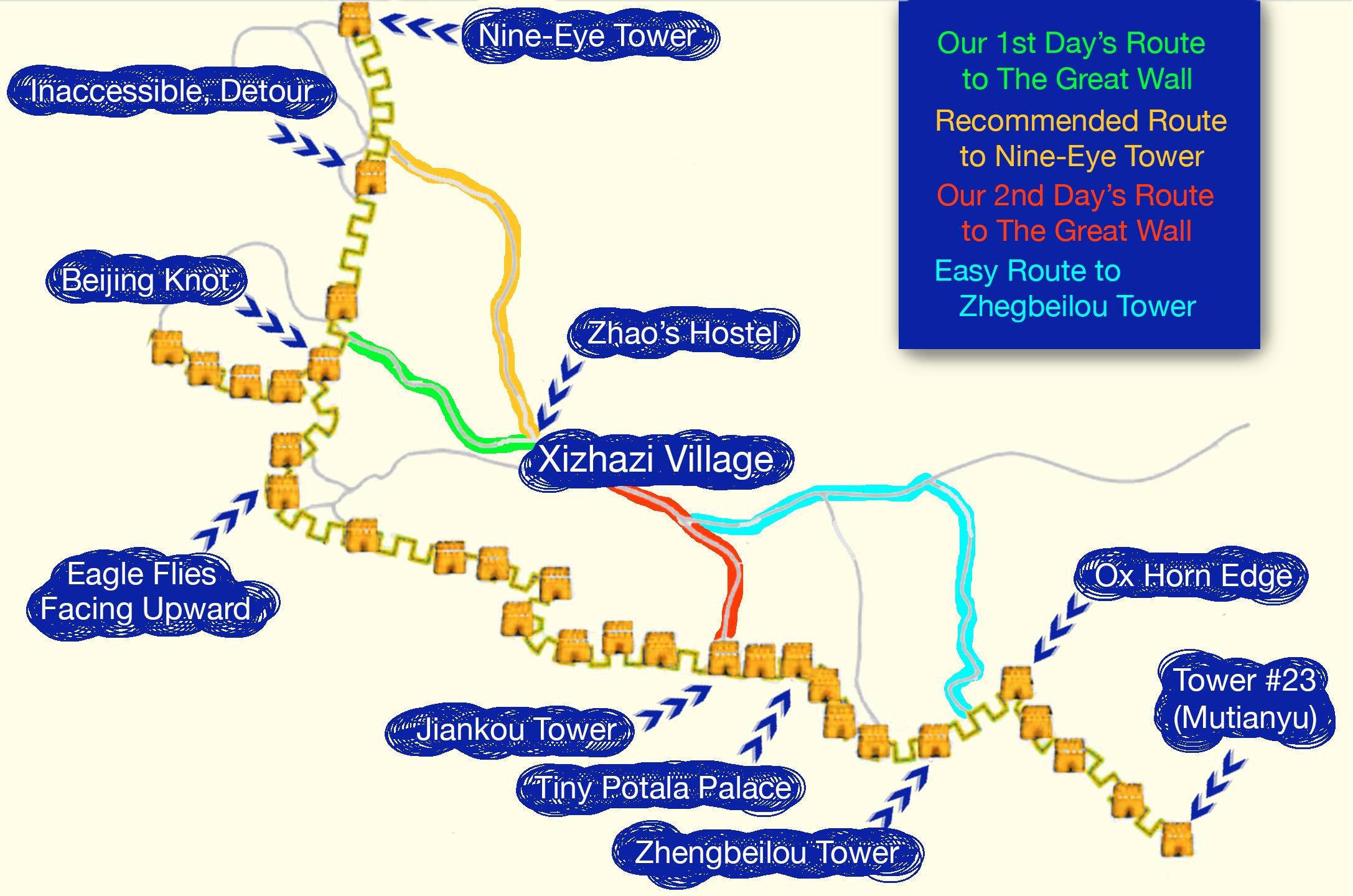 Jiankou Map