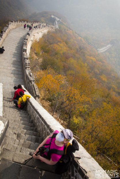 A hiker on the Great Wall of China