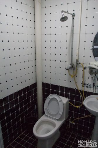 The shower and toilet at Zhao's Hostel