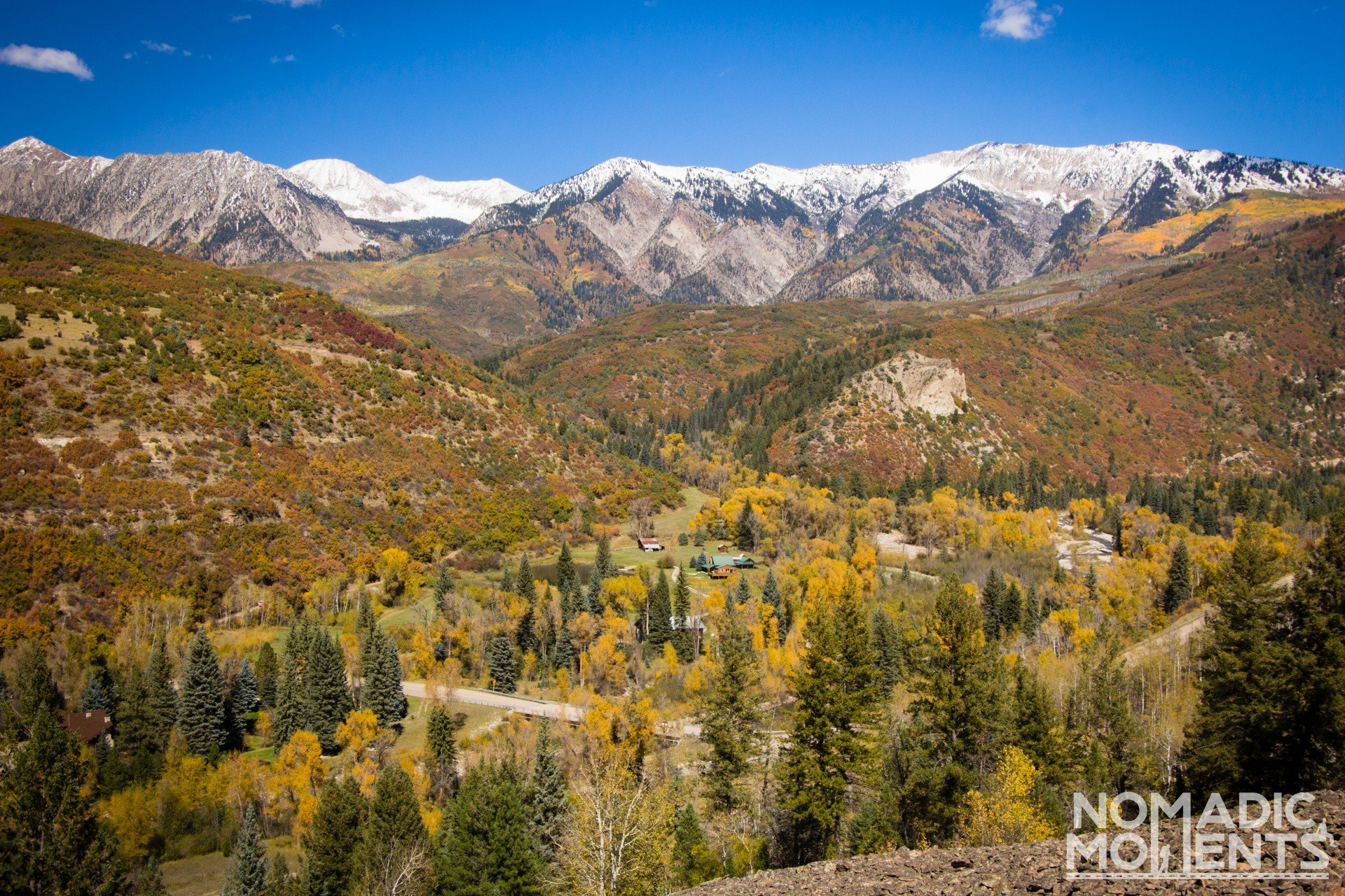 Anthracite Creek bridge overlook on Colorado's Best Autumn Road Trip