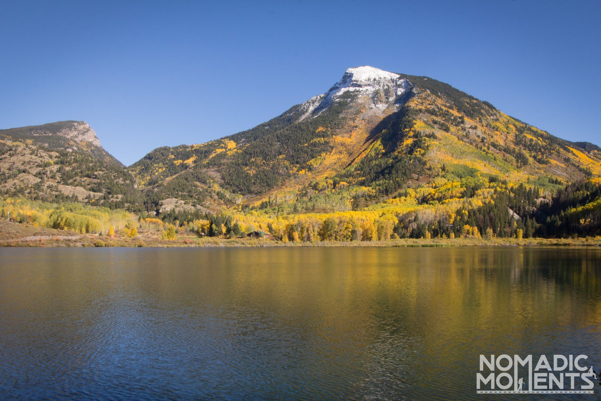 Beaver Lake on the best autumn road trip in Colorado