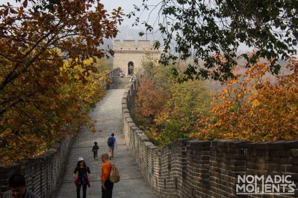 Tourists visiting Mutianyu the best restored section of the Great Wall