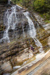 Jenn at Bertha Falls
