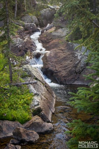 Cascading water on its way to Mirror Lake