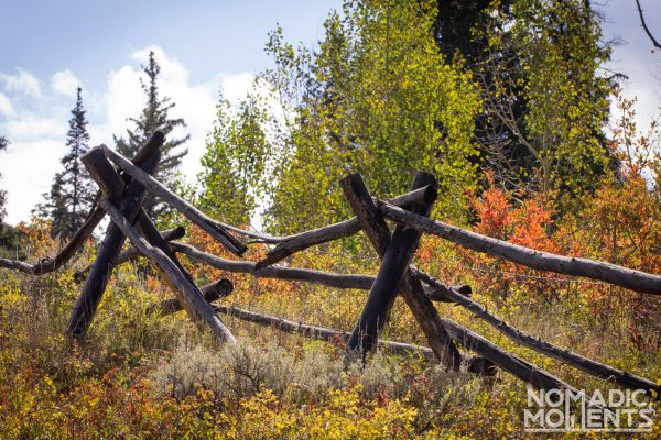 An old wooden fence on the Eaglesmere - Surprise Lake Loop Trail.