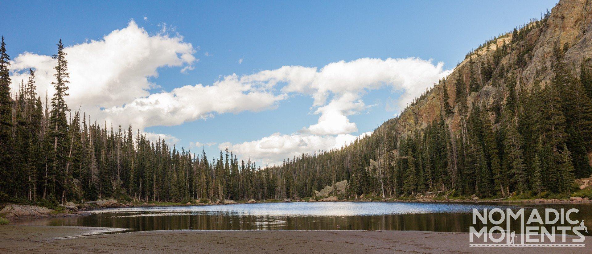 Muddy shore of Mirror Lake