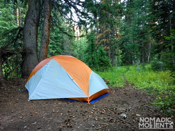 Tent in the Snowmass Wilderness