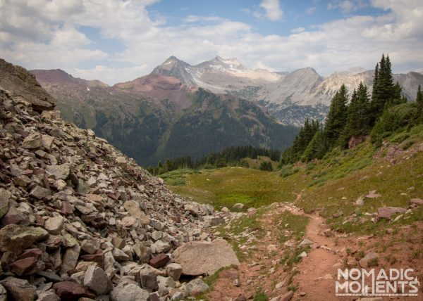 The path up Buckskin Pass