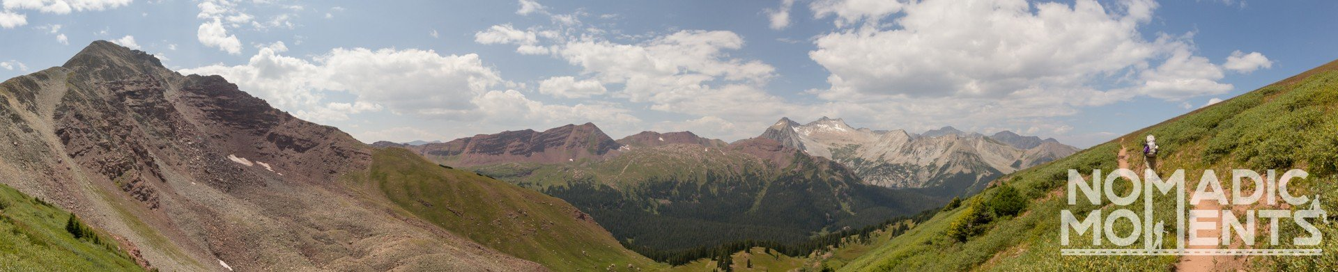 Panoramic Views from Buckskin Pass on Colorado's Four Pass Loop.