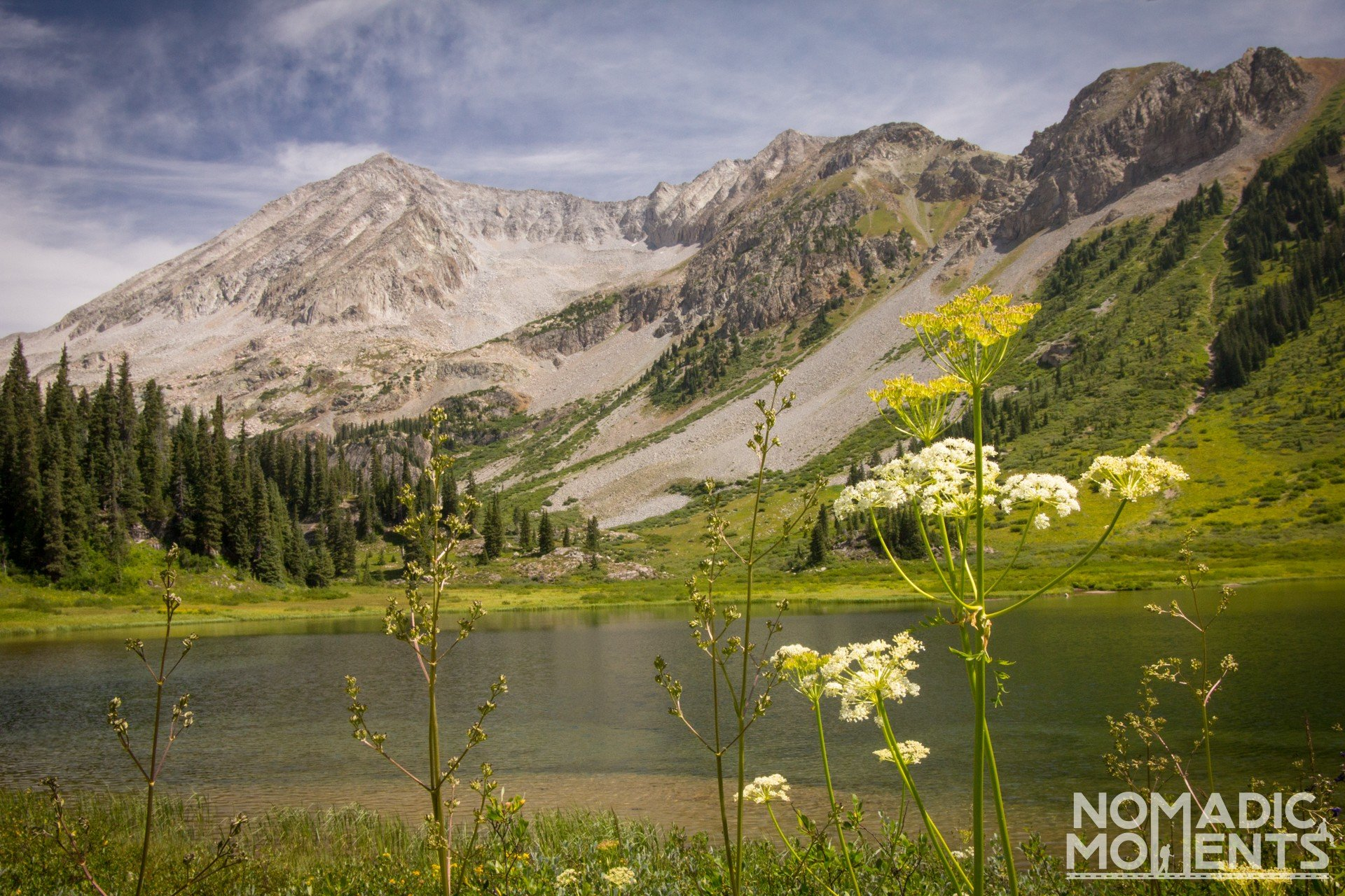 Geneva Lake is a great spot to camp when Backpacking the Four Pass Loop.