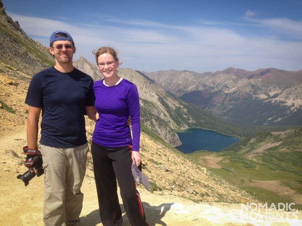 Two hikers on Trail Rider Pass.