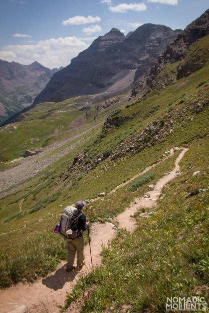 Hike descends Buckskin Pass