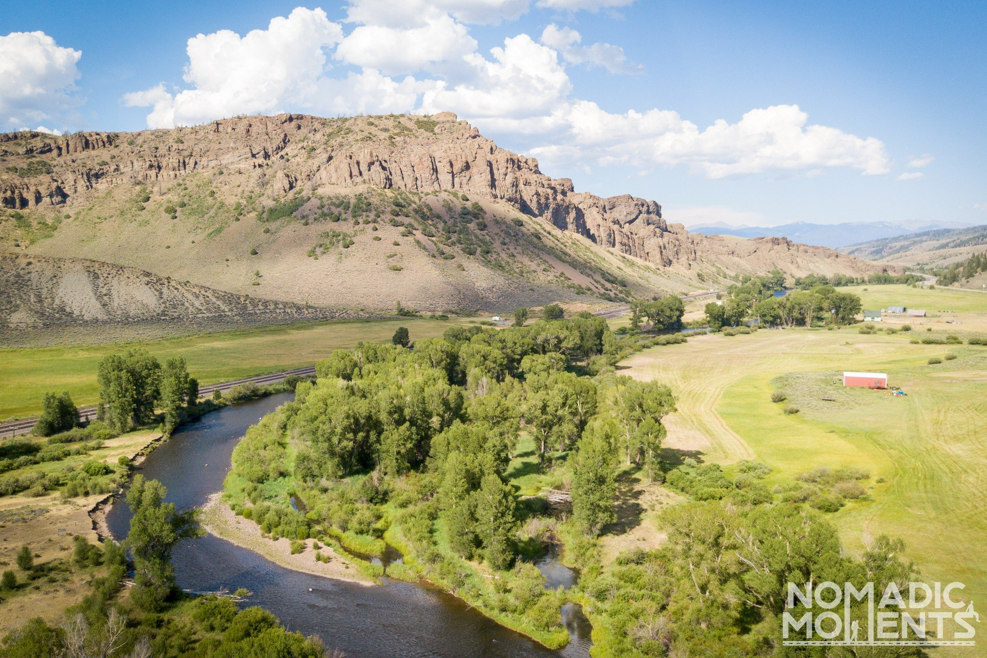 A drones view of the Colorado River