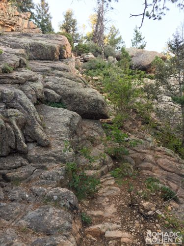 Colorado's St. Peters Dome trail is a granite slab in spots.