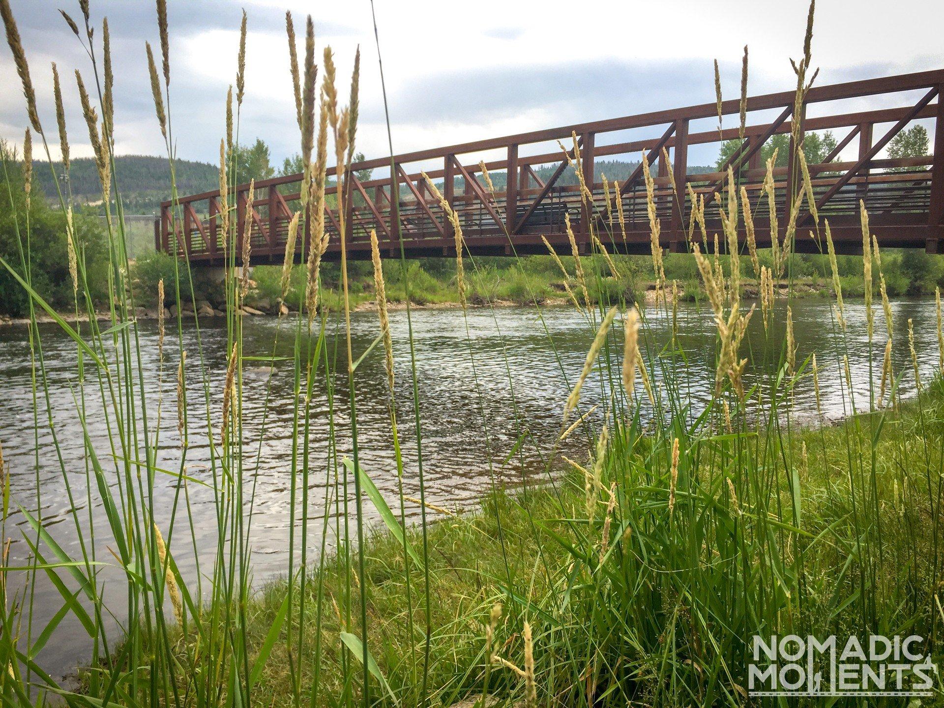 The bridge at Pioneer Park