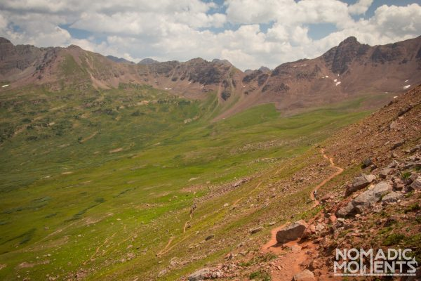 The alpine landscape of the Four Pass Loop.
