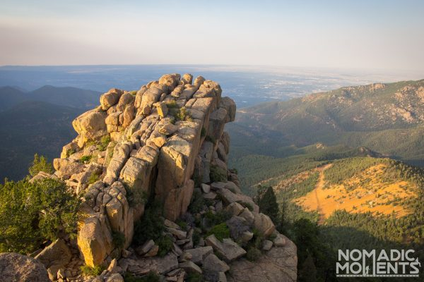 A rocky outcropping on top of Colorado's St. Peters Dome.