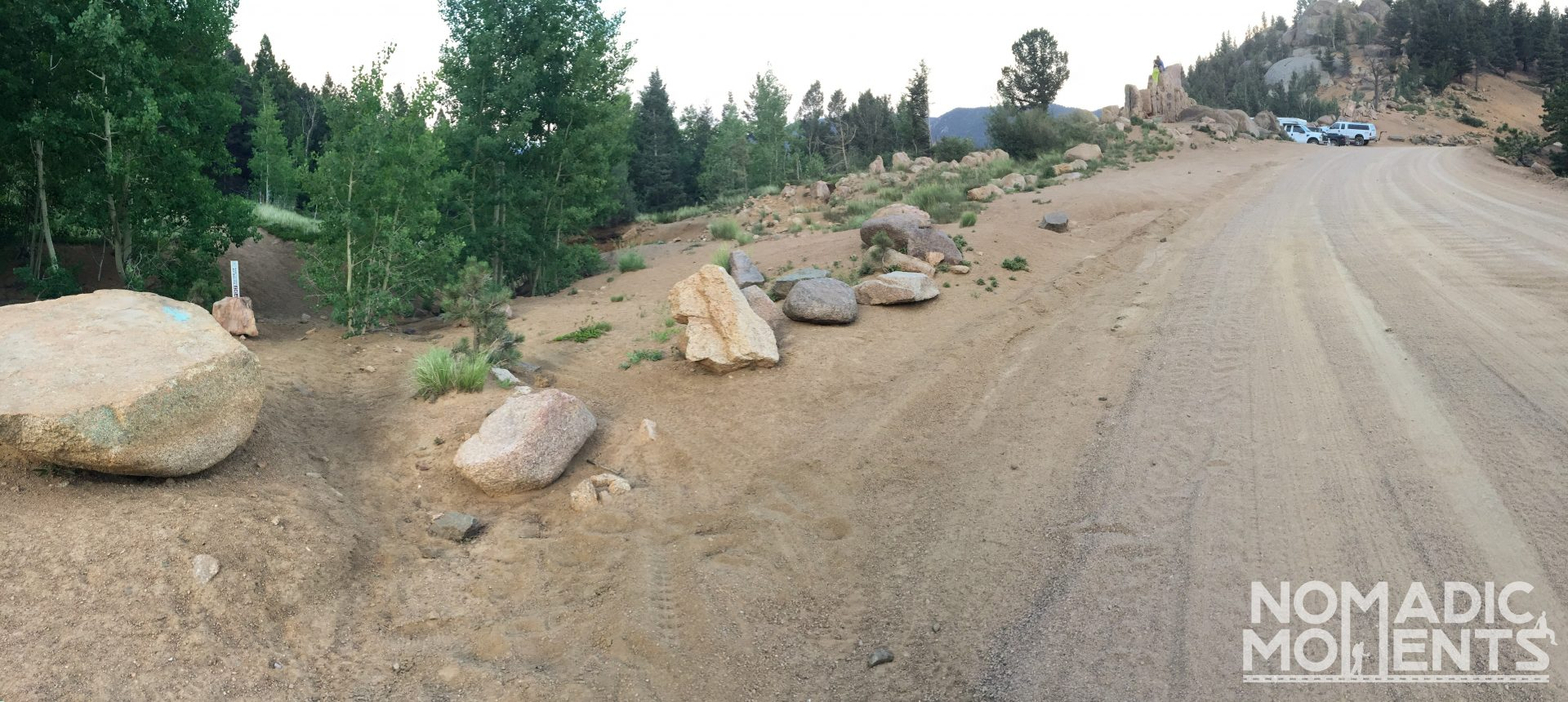 The trailhead for Colorado's St. Peters Dome