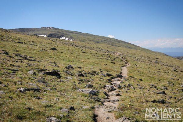 The trail leading up Mount Ida.