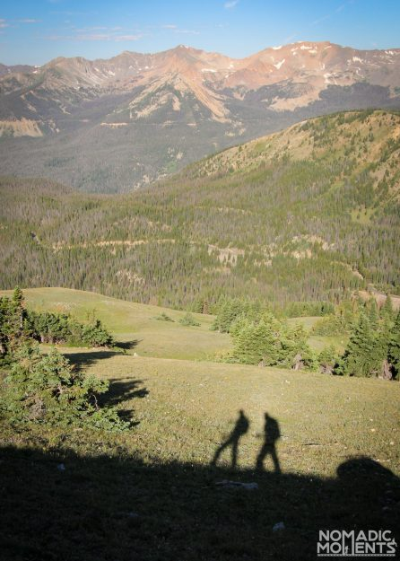 Two travelers hiking Mount Ida.