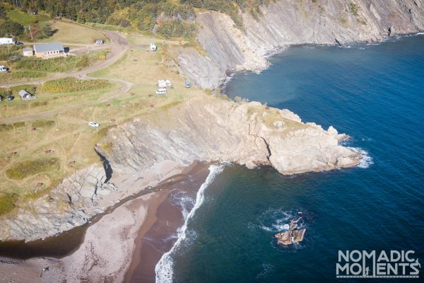The cliffs of Meat Cove