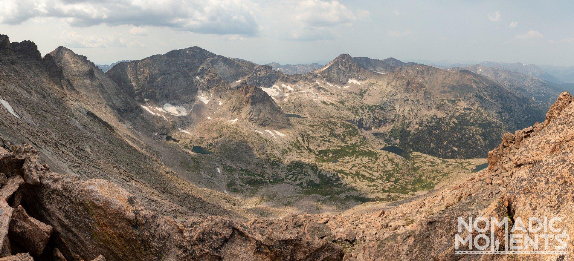 A view of a mountainous landscape.