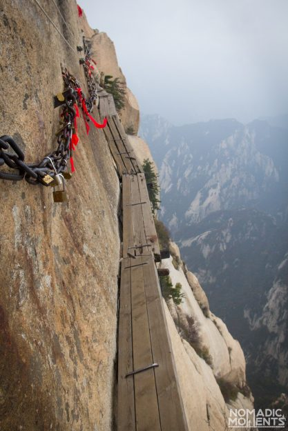 The infamous Huashan Plank Walk.