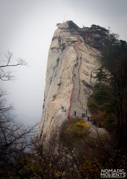A path on one of Huashan's ridges.