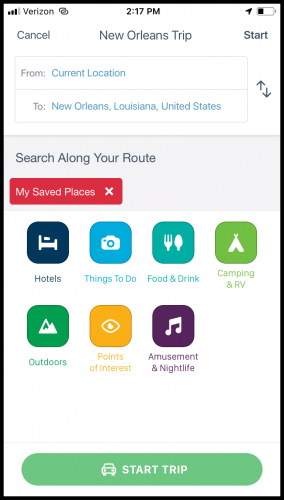 RoadTrippers is one of the best apps for full-time travelers.