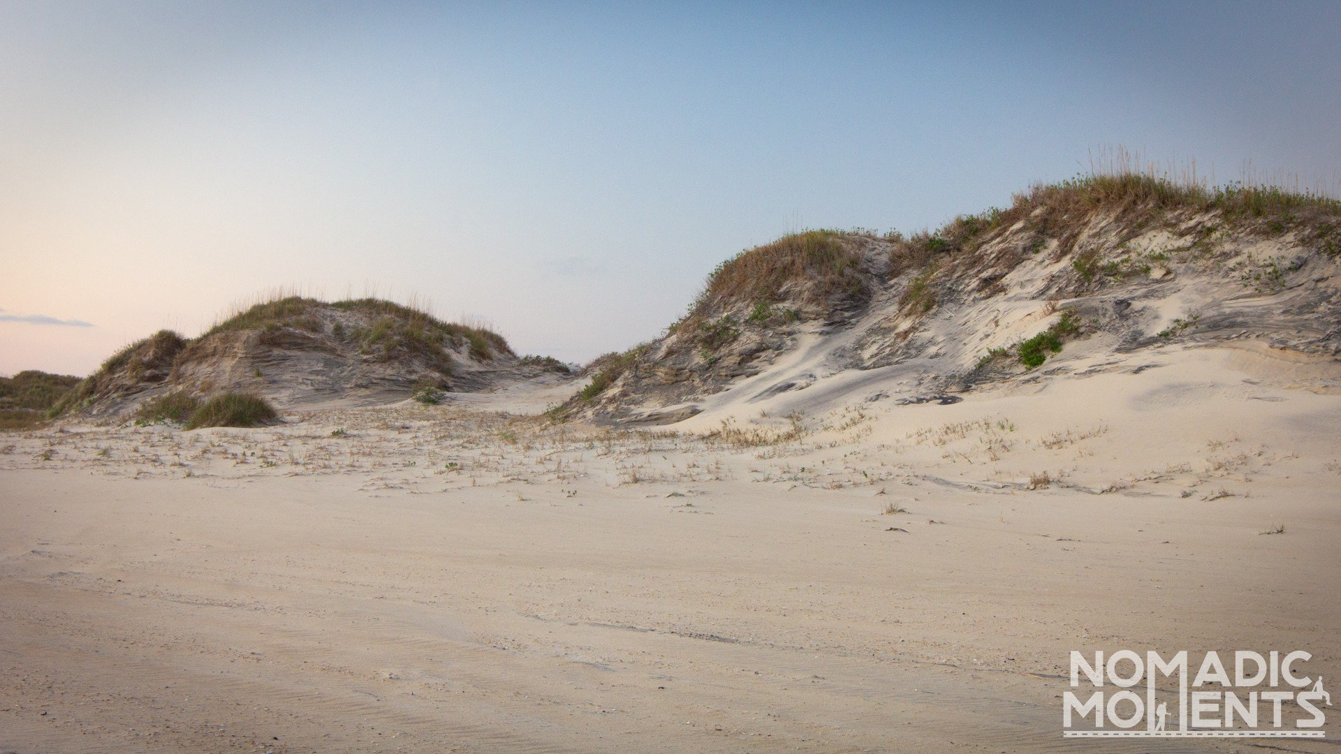Sand dunes on the Outer Banks.