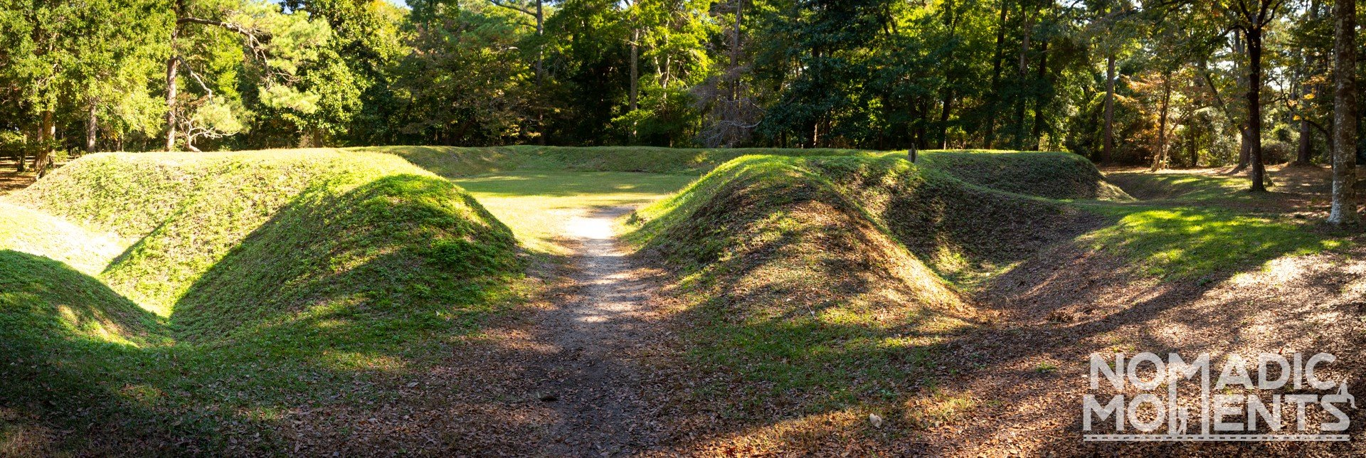 Earthworks at the Fort Raleigh National Historic Site.