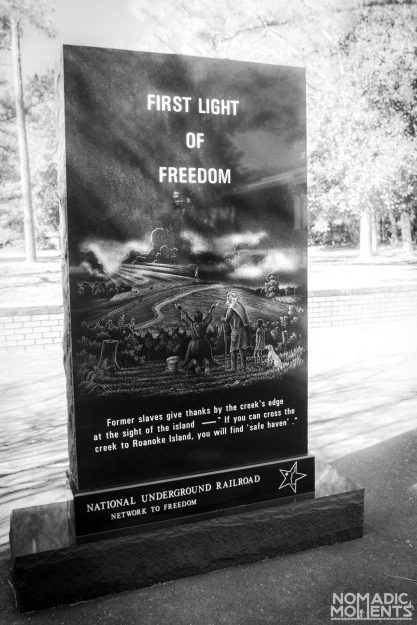 A monument depicting the First Light of Freedom.