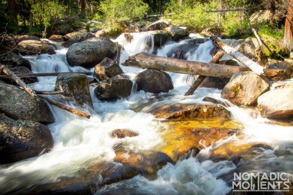 A cascade on the North St. Vrain Creek