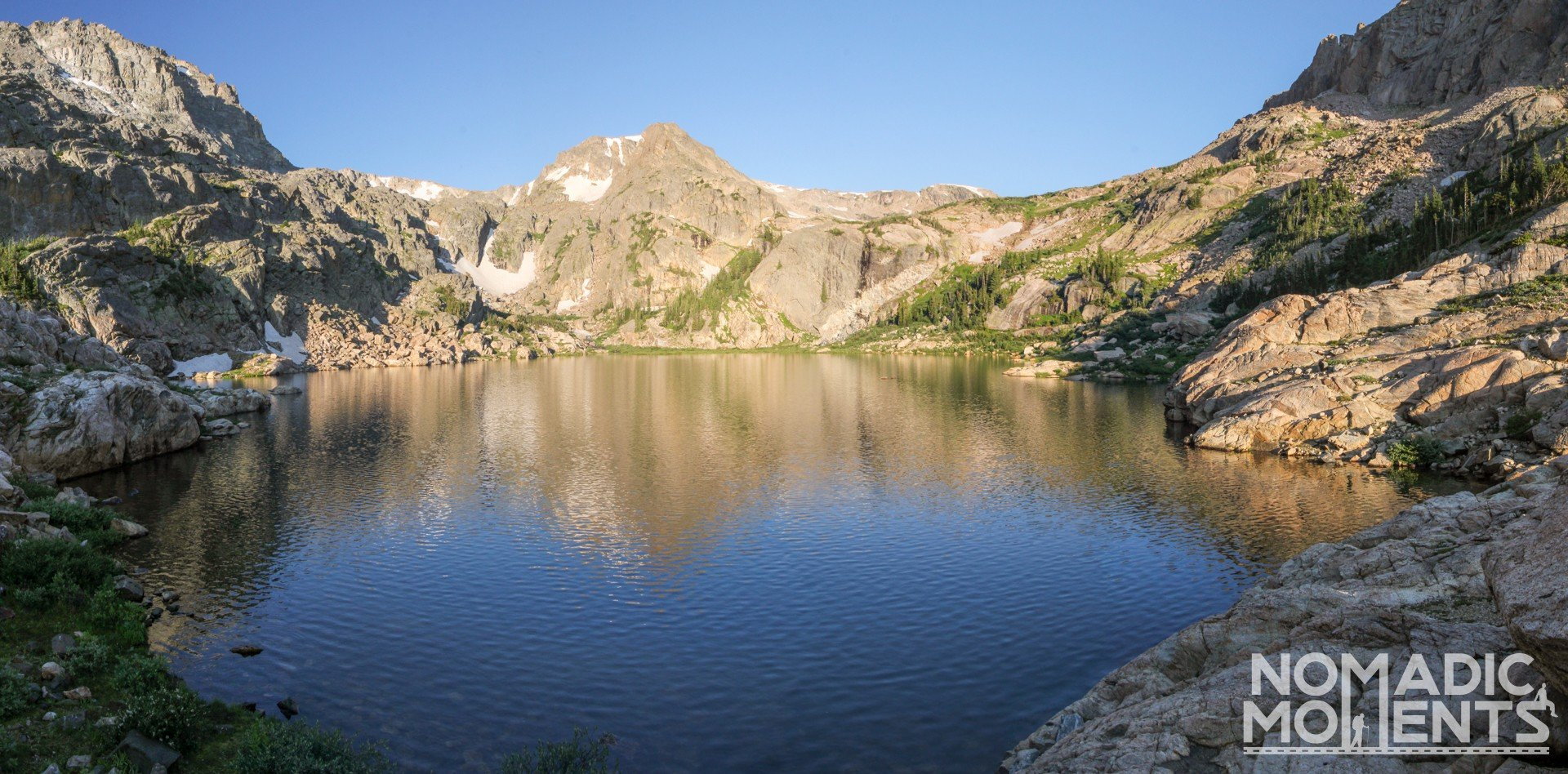 Morning at Bluebird Lake.