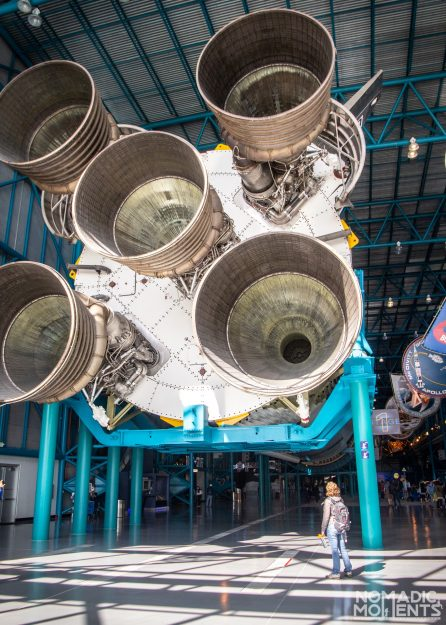 The 5 engines of the Saturn V rocket