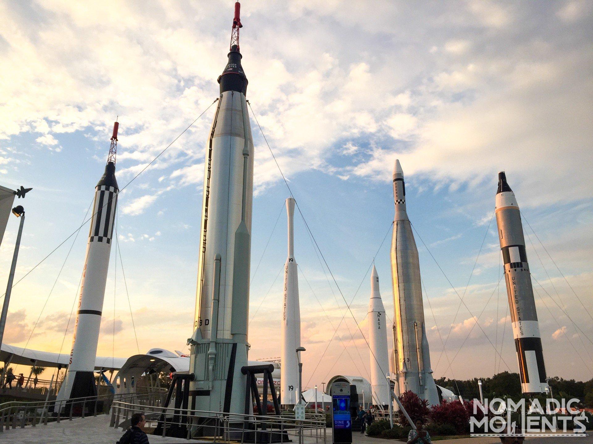 The Kennedy Space Center Rocket Garden