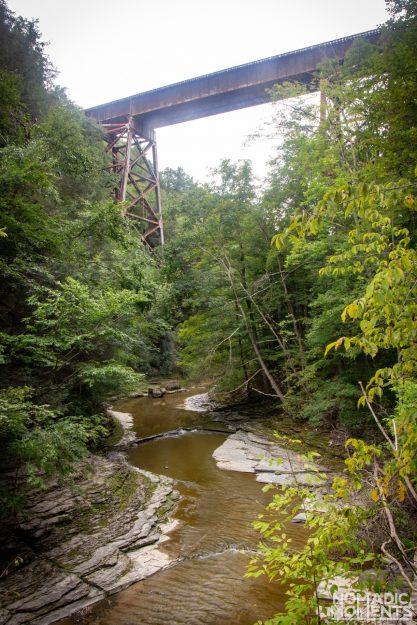 Watkins Glen Railroad Tracks and Trestles.