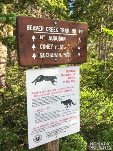 Beaver Creek Trailhead sign