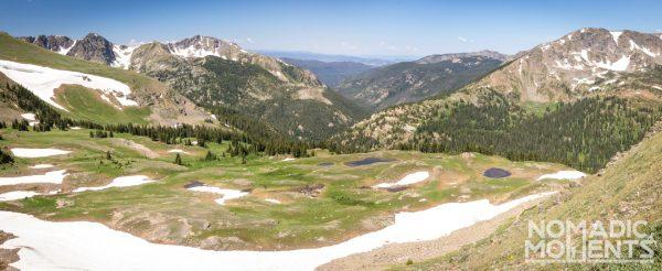The alpine Mountain terrain of the Pawnee - Buchanan Loop