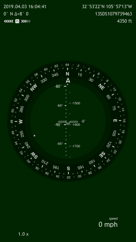 Commander Compass app display
