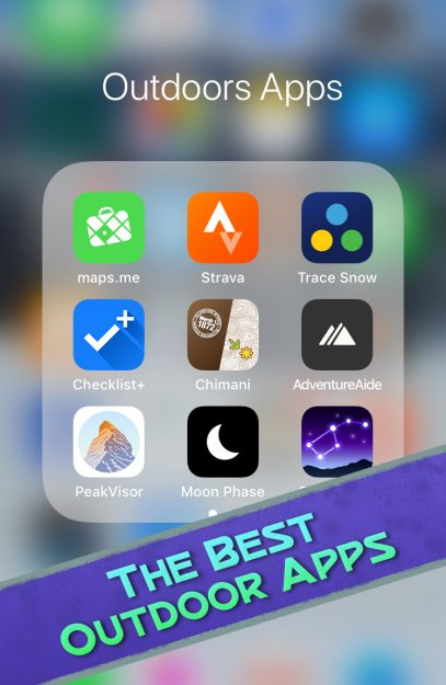 The best Outdoor Apps for iphones and android phones.